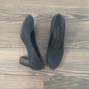 Navy Block Heel